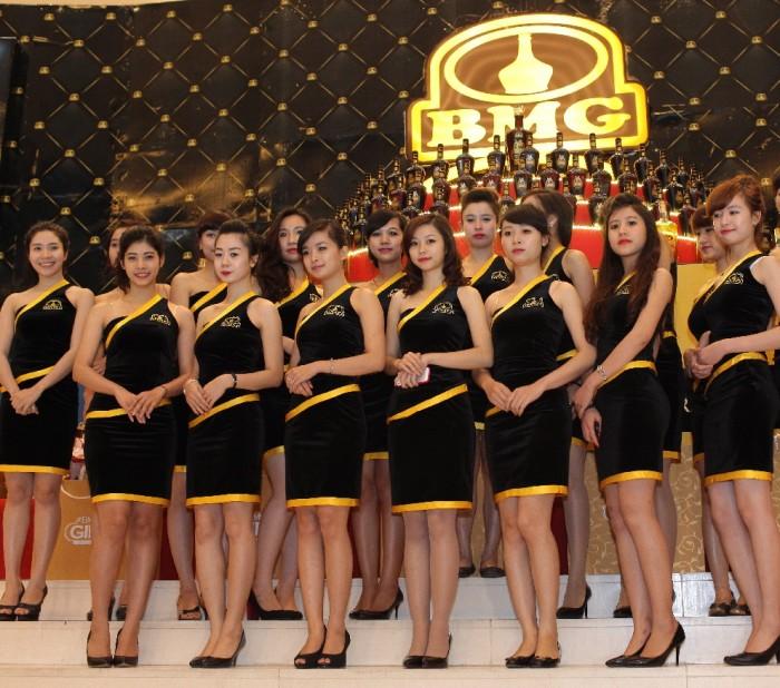 Đồng phục PG với kiểu dáng váy áo lôi cuốn, trẻ trung, màu sắc hài hòa cho các buổi sự kiện giới thiệu, quảng bá các thương hiệu, công ty