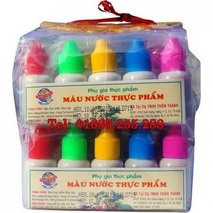 Màu rau câu 3D  - Giá bán: 150.000 vnđ/ bộ 12 chai  - Sản xuất: Hàng Việt Nam chất lượng cao