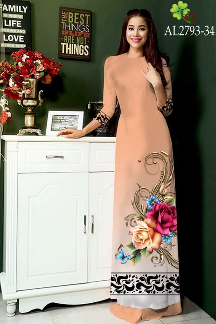 Áo dài 3D đẹp mẫu AL