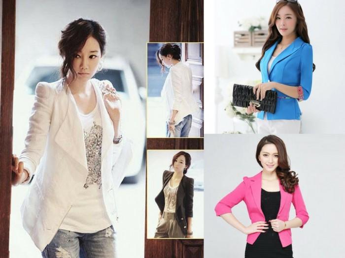 May đồng phục vest nữ kiểu dáng bó eo, chất liệu vải thoáng
