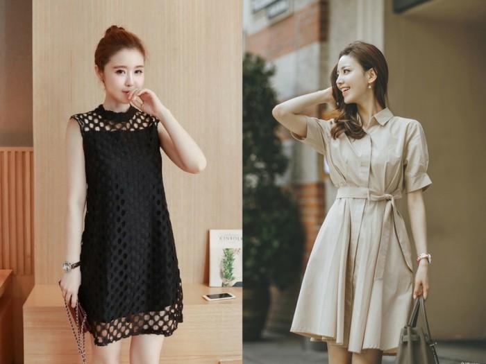 May đồng phục đầm công sở nữ Hàn Quốc
