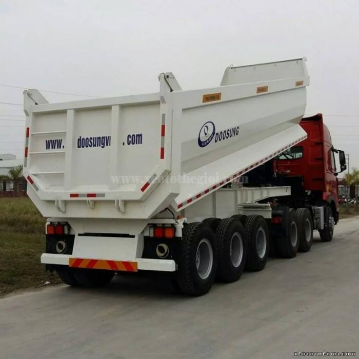 Sơ mi rơ moóc ben Doosung 28 tấn trả góp giá rẽ, giao xe ngay 2016