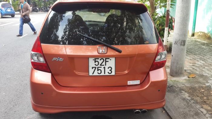 Bán Honda Fit nhập japan số tự động đk 2008 sx 2007 màu đỏ cam
