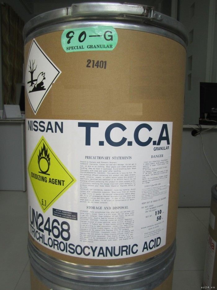 Tricholoroisocyanuric acid, Tiêu diệt các vi sinh vật và diệt tảo, Diệt vi khuẩn mới 100%