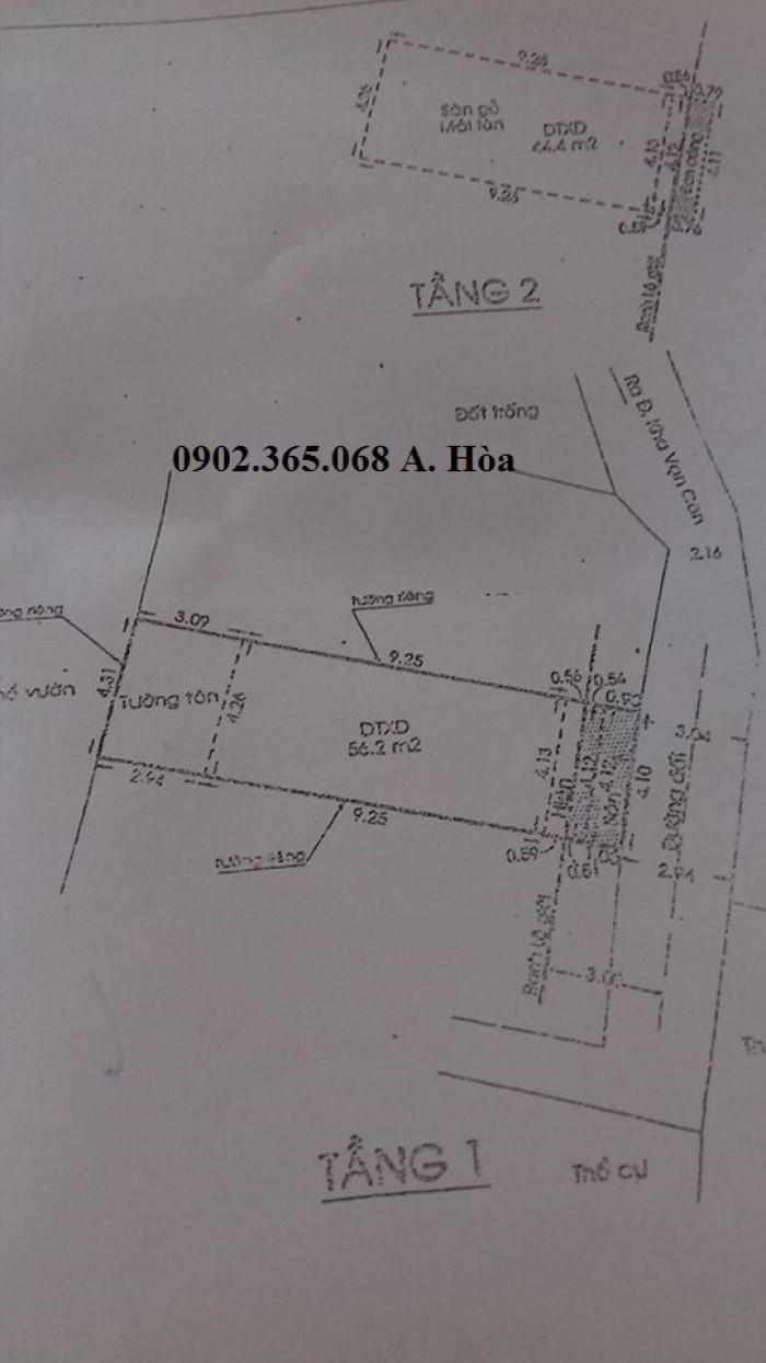 Cần bán nhà Cấp 4, ở Phường Linh Đông,Thủ Đức,DT:4.3x14m,Cách Kha vạn cân 300m , ko qua đường ray