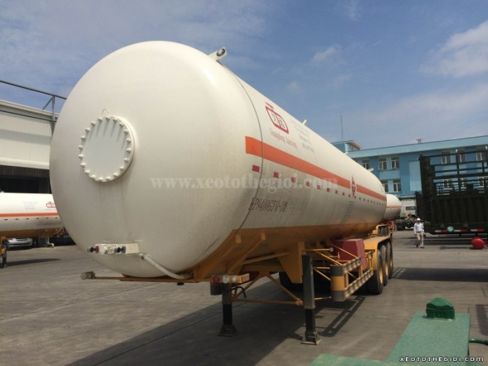 Loại rơ moócRo Mooc Xitec Bồn chở Ga LPG 48m3 Tải trọng (Kg)23500
