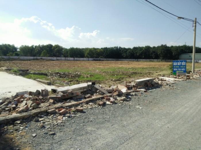 Đất nằm ngay nhà máy nước dĩ an, trên đường liên huyện