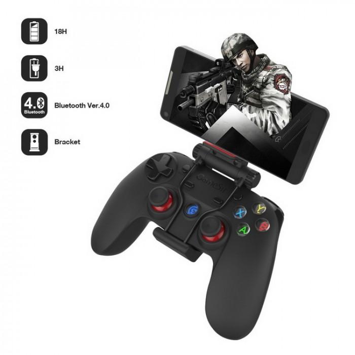Tay cầm gamepad G3s hỗ trợ phụ kiện giúp gắn trực tiếp chiếc smartphone lên tay cầm đồng thời có thời lượng pin sử dụng lên đến 18h giúp các bạn thuận tiện giải trí trong các chuyến đi xa mà không lo sợ hết pin.4