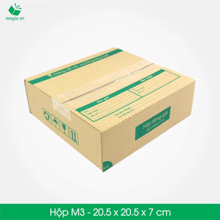 M3 - Size 20.5x20.5x7 cm- Hộp Carton đóng gói gửi hàng thu hộ COD1