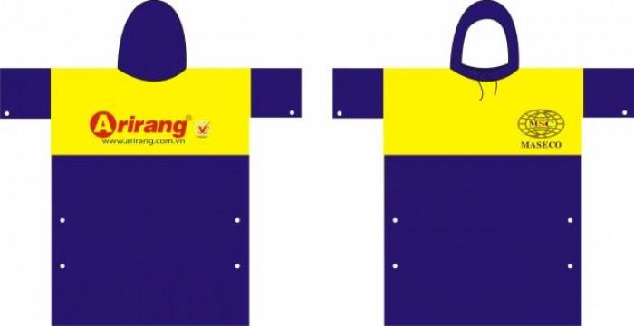 Áo mưa nhựa Rạng Đông in logo công ty hàng chất lượng cao giá siêu tốt
