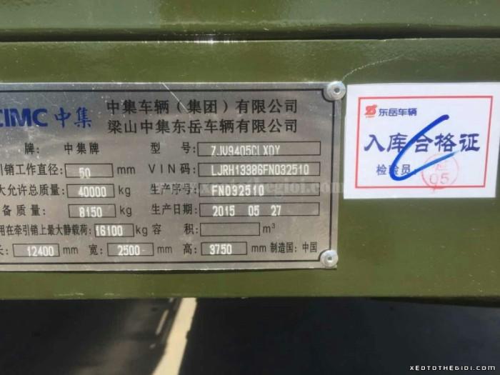 Bán Sơ mi rơ moóc thùng bửng (3 trục- 12.4m)
