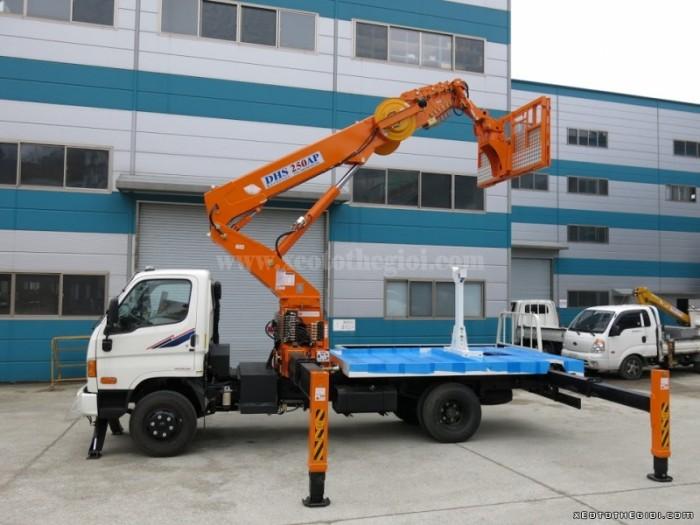 Xe tải Hyundai HD 3.5 tấn HD72 gắn cẩu DHS250, có hỗ trợ vay và trả góp 0