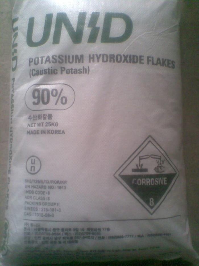 Kali hydroxit , KOH, Potassium hydroxit, 90% min, chất điều chỉnh kiềm