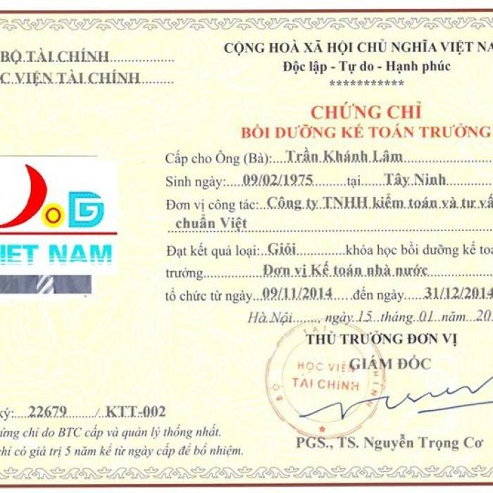 Địa chỉ học kế toán trưởng tại Hà Nội.Cấp chứng chỉ học viện tài chính
