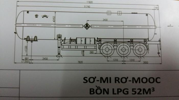 SƠ–MI RƠ-MOOC bồn LPG 52M3