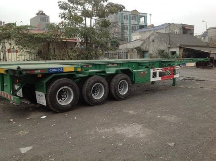 Sơ Mi Rơ Moóc tải, Loại Xương 40 Feet 3 trục, tải Trọng 31.500 kg
