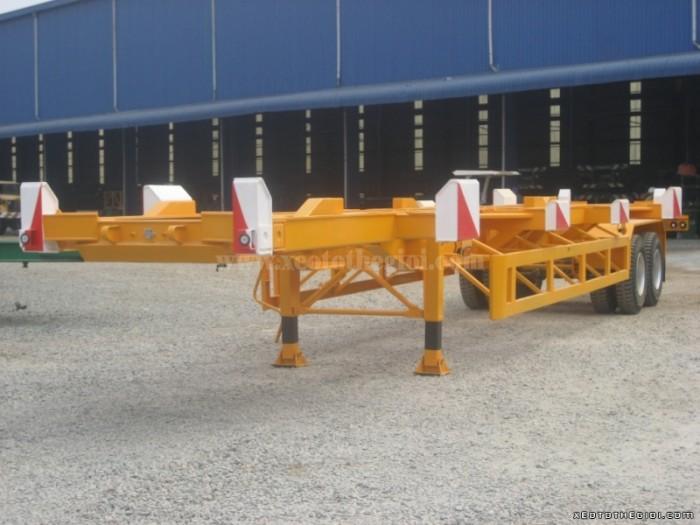 Bán Sơ mi Rơ moóc 40 feet 02 trục xương hiệu CIMC hàng nhập khẩu, hỗ trợ trả góp lãi suất thấp