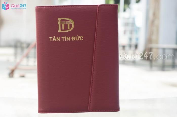 Sổ da in logo công ty quà tặng cao cấp dành cho đối tác, khách hàng giá cực tốt