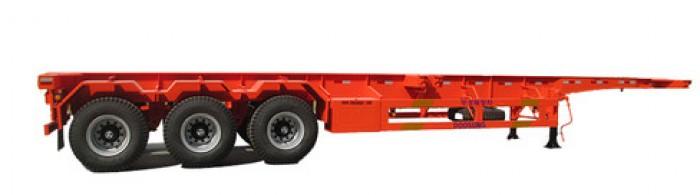 Rơ Moóc XƯƠNG 2 trục 30,5 tấn chở container, hàng nhập khẩu, giao hàng toàn quốc.