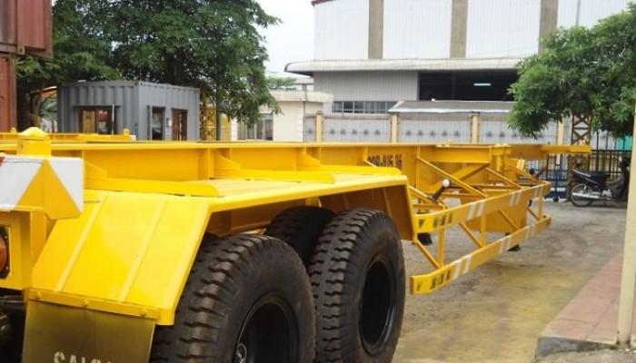 SơMi Rơ Moóc XƯƠNG chở container 2 trục 40 feet , Tải trọng 30,5 tấn