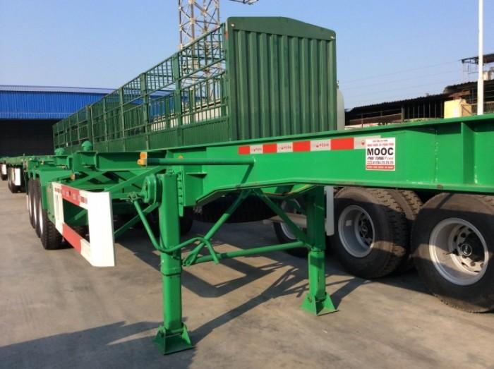 Sơ mi rơ mooc sàn 40 feet – 3 trục – 32,5  tấn – 2016 chính hãng CIMC