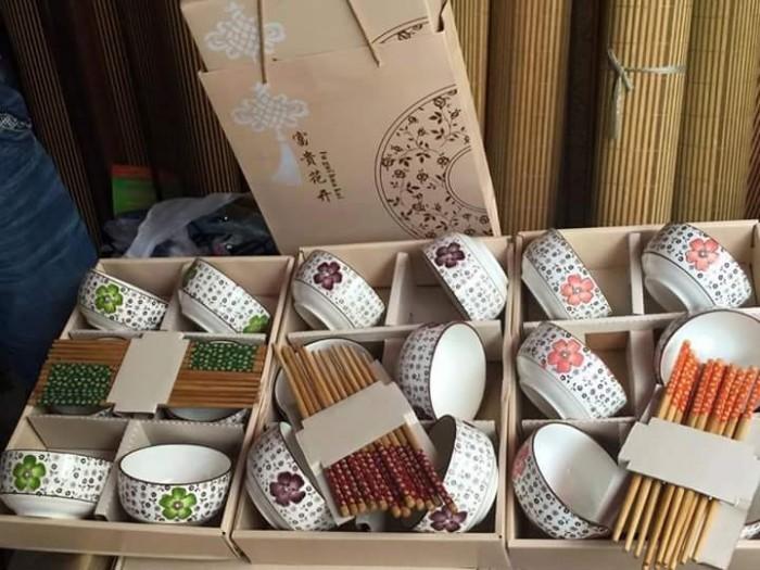 Bộ 6 bát đũa hàng xuất Nhật cao cấp giá rẻ0