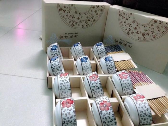 Bộ 6 bát đũa hàng xuất Nhật cao cấp giá rẻ1