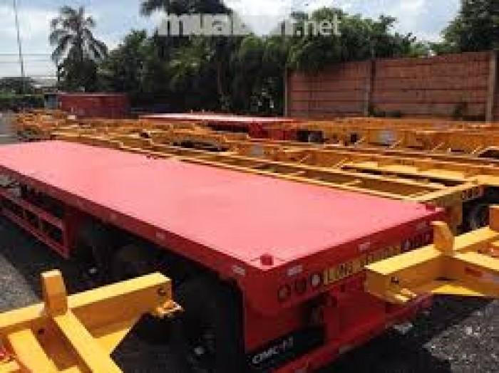 Bán Rơ Mooc sàn CIMC 40 Feet 3 trục 32 tấn,giá rẻ nhất TP.HCM - năm 2016