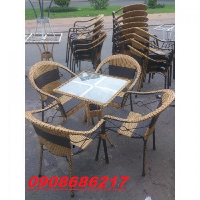 Bàn ghế nhựa giả mây cao cấp giá cực rẻ0