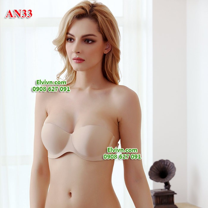Áo ngực không dây vai, dây lưng trong suốt