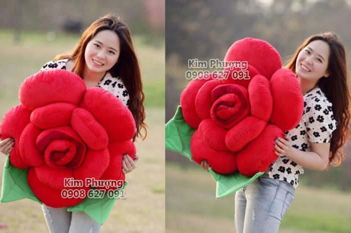 Qùa tặng gối ôm hình hoa hồng0