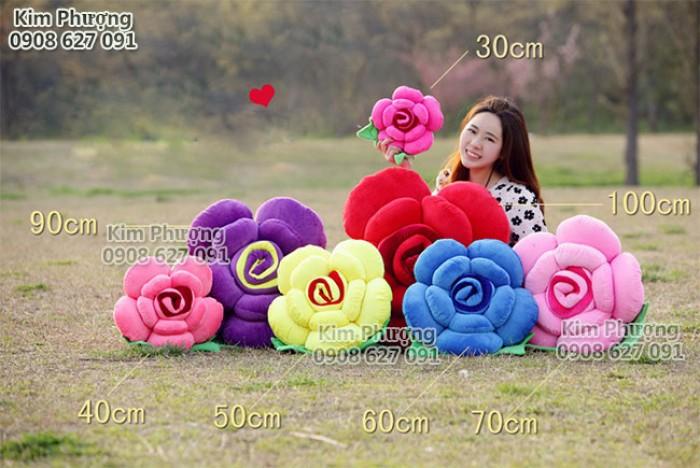 Qùa tặng gối ôm hình hoa hồng1