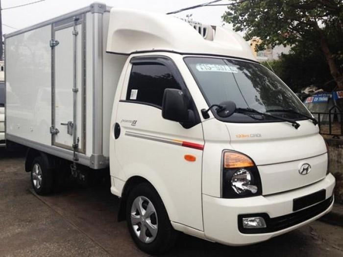 Xe hyundai Porter II nhập khẩu nguyên chiếc đông lạnh thùng 1 tấn 2