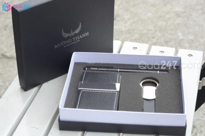 Bộ giftset 3 món khắc logo công ty bộ quà tặng sang trọng dành cho khách hàng và đối tác