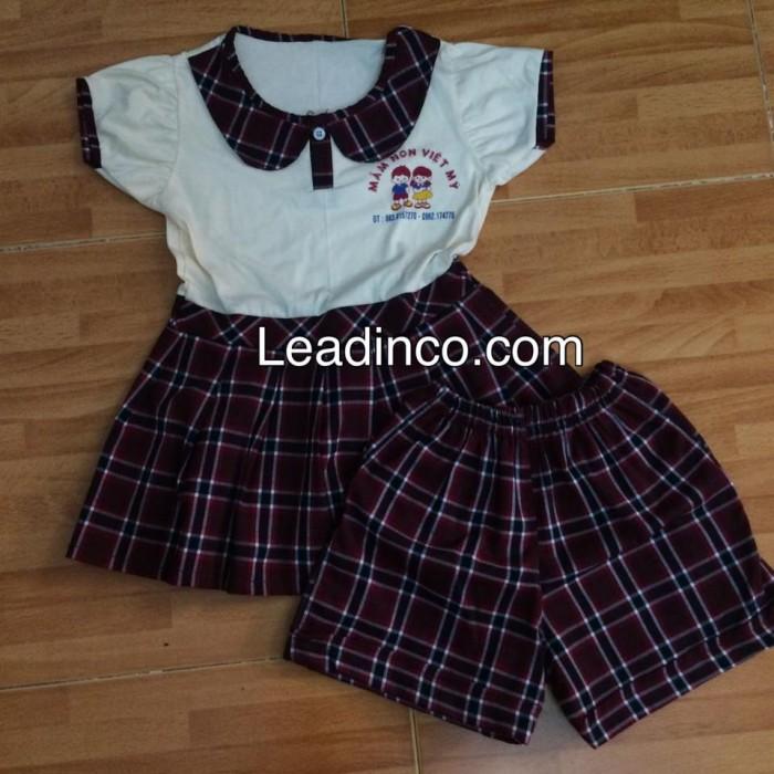 Đồng phục học sinh nhỏ nhắn, dễ thương, bền, đồng phục trường tiểu học Việt Mỹ