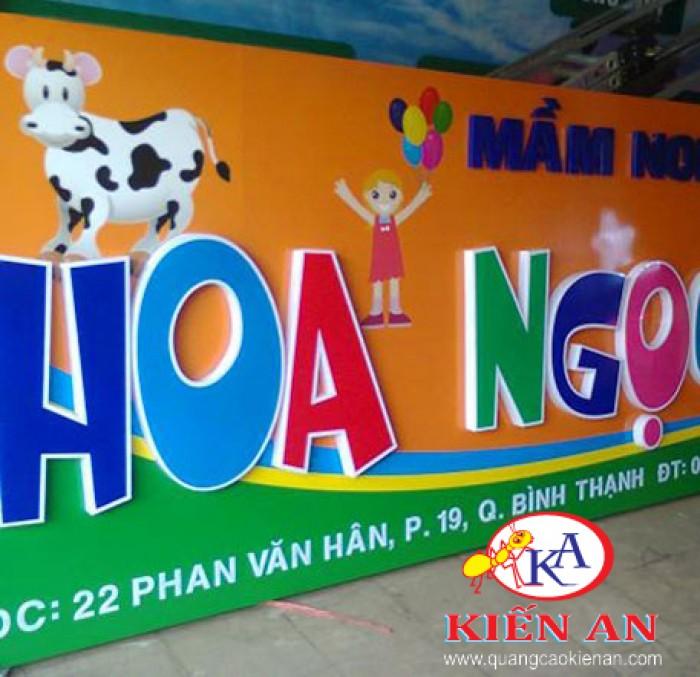công ty quảng cáo kiến An:www.quangcaokienan.com chuyện gia công & thi công chữ Nổi Mica