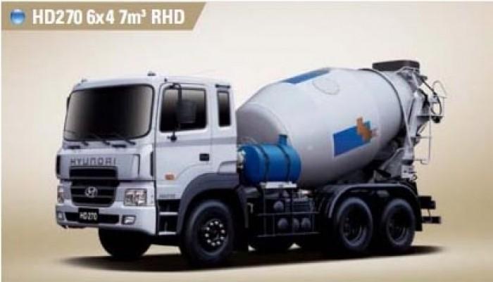 Bán xe Hyundai HD270 trộn bê tông thể tích bồn chứa 7m3 , hỗ trợ vay đến 80%