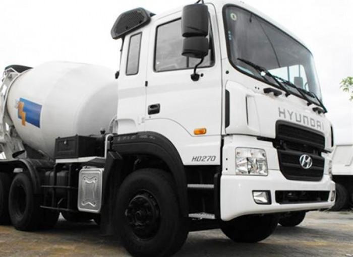 Bán xe tải Hyundai bồn trộn 7m3 HD270 trộn bê tông mới, Hyundai trộn bê tông