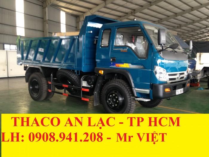 XE BEN THACO FORLAND600C-Tải Trọng 6 Tấn , 6T , Thùng 4,9 khối , Gía Cạnh Tranh Tại TP HCM , LONG AN