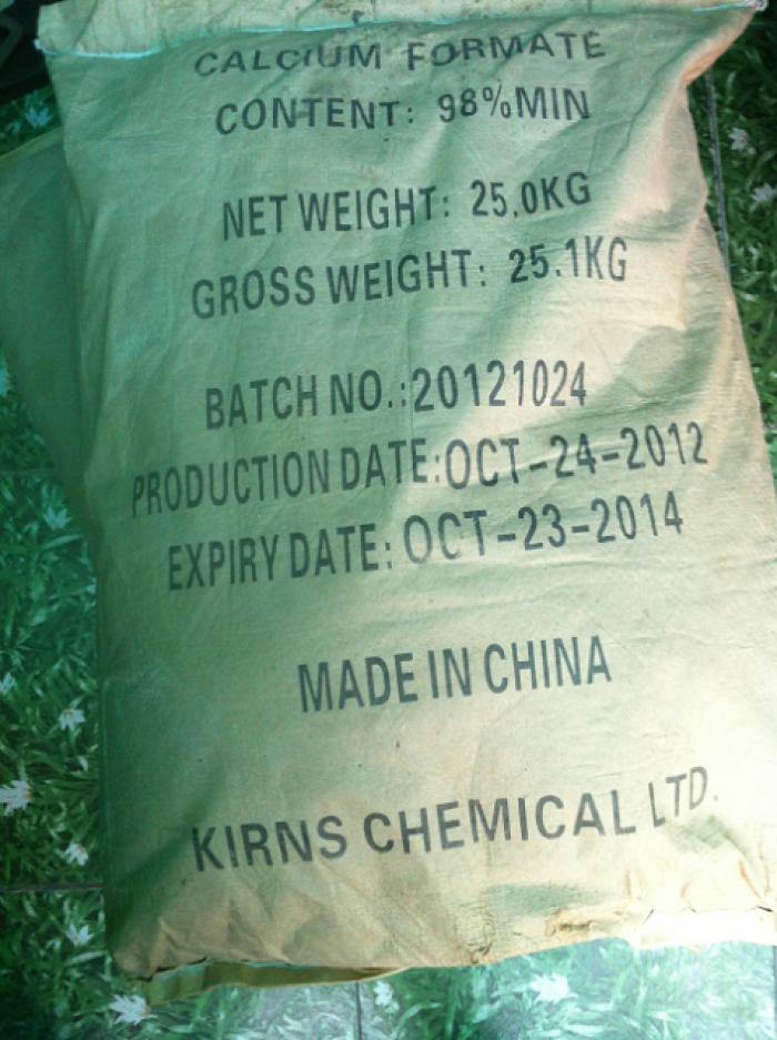Giá mua và bán: CALCIUM FORMATE, chất bổ sung Canxi, hạn chế tiêu chảy trong thủy sản mới
