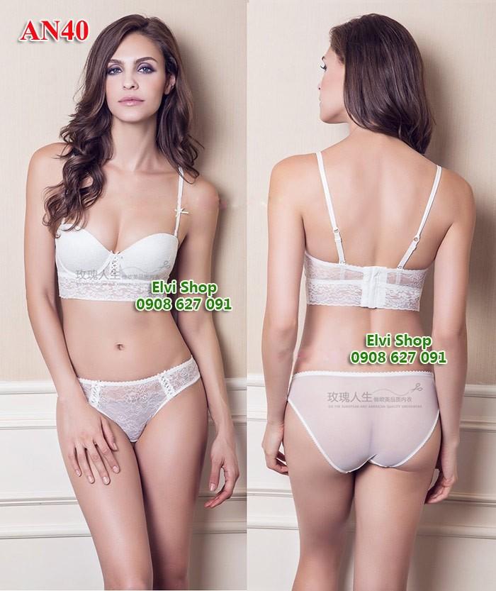 Bộ áo ngực cúp ngang cho đầm cúp ngực,AN40