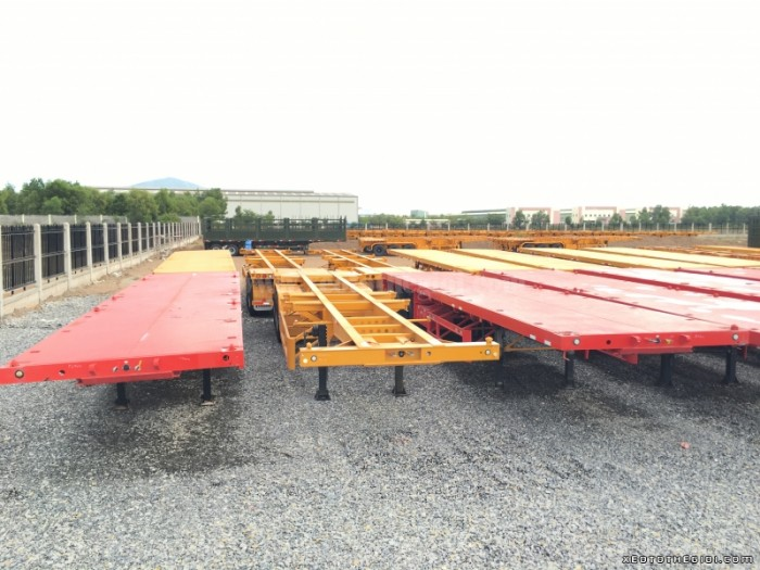 Đại lý bán Xe Sơ mi Rơ moóc Thùng bửng, tải trọng 30,5 tấn , giá rẻ 2016
