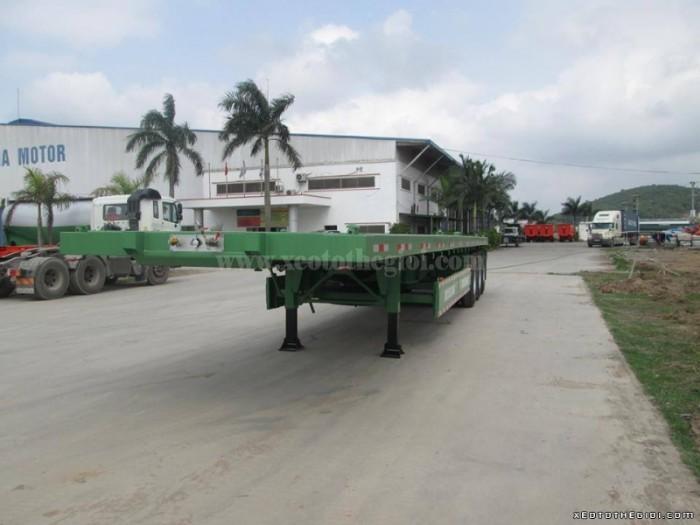Sơ mi rơ mooc sàn DOOSUNG ( chở container) 40 feet, 3 trục