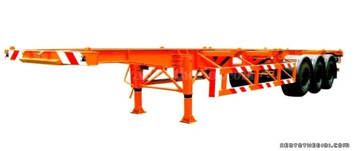 Bán Sơ mi Rơ moóc 40 feet 03 trục xương hiệu CIMC hàng nhập khẩu, hỗ trợ trả góp