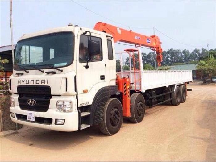 xe tải cẩu hd320