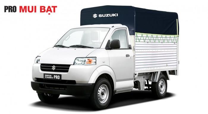 Xe tải suzuki thùng mui bạc 615kg