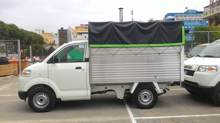Xe tải suzuki thùng mui bạc 615kg/Suzuki Sóc Trăng/Giá xe suzuki