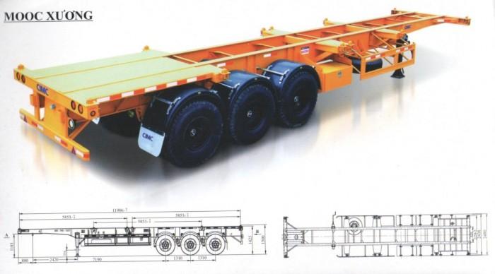 Loại rơ moócRơ moóc xương Xuất xứHàng Nhập Khẩu Nguyên Chiếc Tổng tải trọng (Kg)27,400
