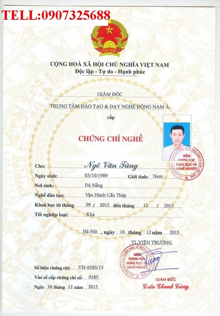 Chứng chỉ cẩu tự hành tại Bắc Ninh