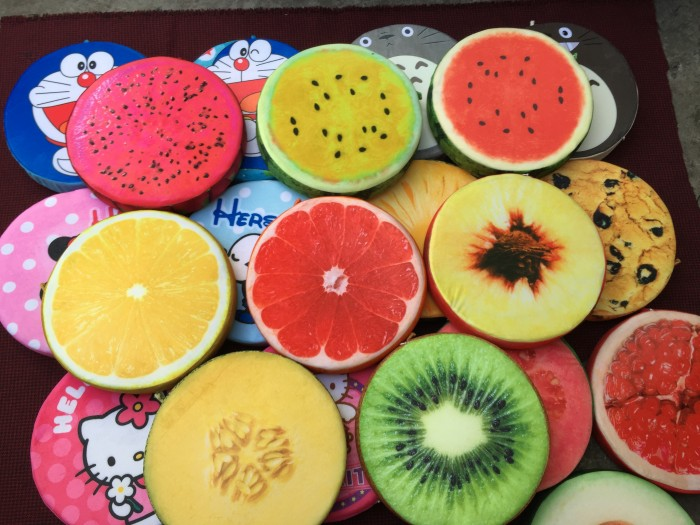 Gối trái cây,doraemon 3D. Mẫu mới 100%